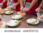 traditional way of preparing... | Shutterstock . vector #636553721