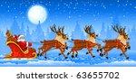 Christmas Santa Claus Riding On ...