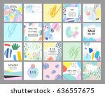 set of artistic creative... | Shutterstock .eps vector #636557675