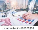double exposure of... | Shutterstock . vector #636565454