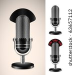 """""""on the air"""" microphone set.... 