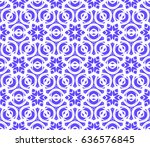 decorative floral seamless... | Shutterstock .eps vector #636576845