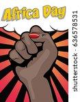 african liberation day. pop art ... | Shutterstock .eps vector #636578531