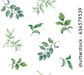 watercolor floral background... | Shutterstock . vector #636579539