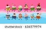 illustration design a poster...   Shutterstock . vector #636579974