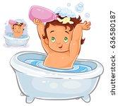 vector clip art illustration of ... | Shutterstock .eps vector #636580187
