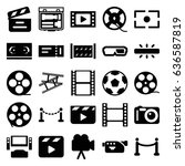 cinema icons set. set of 25... | Shutterstock .eps vector #636587819