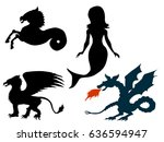 set of vector illustrations of... | Shutterstock .eps vector #636594947
