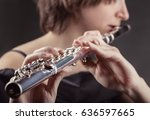 Close Up Of A Woman Playing Th...