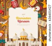 ramadan kareem concept banner... | Shutterstock .eps vector #636601427