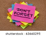 do not forget reminder   a... | Shutterstock . vector #63660295