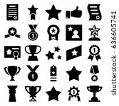 best icons set. set of 25 best... | Shutterstock .eps vector #636605741