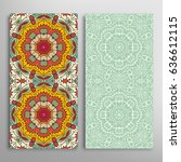vertical seamless patterns set  ...   Shutterstock .eps vector #636612115