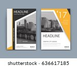 abstract a4 brochure cover... | Shutterstock .eps vector #636617185