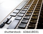 close up of keyboard and... | Shutterstock . vector #636618031