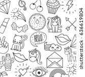 girly icon image  | Shutterstock .eps vector #636619804