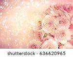 roses background | Shutterstock . vector #636620965