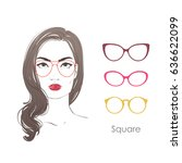 vector set beautiful women... | Shutterstock .eps vector #636622099