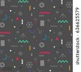 Geometric Flat Pattern. | Shutterstock vector #636625579