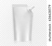 blank food flexible pouch snack ... | Shutterstock .eps vector #636628579