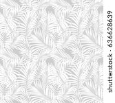 tropical palm leaves seamless...   Shutterstock .eps vector #636628639