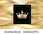 blank business cards with waves ... | Shutterstock .eps vector #636631591