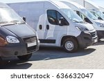 number of new minibuses and... | Shutterstock . vector #636632047