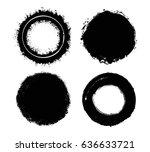 set of grunge circles.vector... | Shutterstock .eps vector #636633721