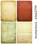 old paper sheets isolated on... | Shutterstock . vector #63663799