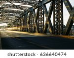 empty asphalt road and the... | Shutterstock . vector #636640474