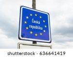 entrance to the czech republic  ...   Shutterstock . vector #636641419