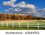 White Fences Accent Autumn...
