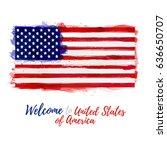 symbol  poster  banner usa....   Shutterstock .eps vector #636650707