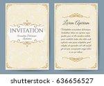 baroque invitation card in...   Shutterstock . vector #636656527