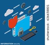 information security  folder... | Shutterstock .eps vector #636658801