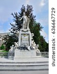 Small photo of Monument to Mozart in Vienna