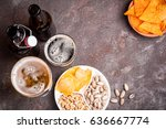 beer in bottles and glasses...   Shutterstock . vector #636667774