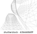 architectural drawing.... | Shutterstock .eps vector #636668689