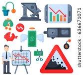 crisis symbols concept problem... | Shutterstock .eps vector #636671071