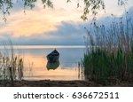 Old rowboat on the lake at...