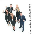 group of business people... | Shutterstock . vector #636672625