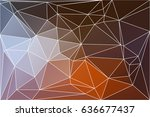 brown orange white abstract low ...   Shutterstock .eps vector #636677437