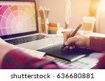 digital art graphic design... | Shutterstock . vector #636680881