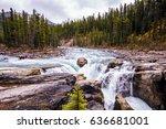 sanvapta great falls in jasper... | Shutterstock . vector #636681001