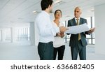 business people and real estate ... | Shutterstock . vector #636682405