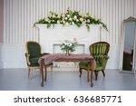 Vintage Living Room In Retro...