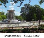 a running water fountain in a... | Shutterstock . vector #636687259