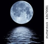 full blue moon over cold night... | Shutterstock . vector #63670081