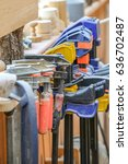 home workshop full of tools. | Shutterstock . vector #636702487