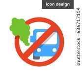 vector icon sticker stop... | Shutterstock .eps vector #636717154